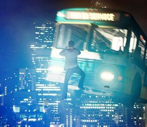 CHRONvfx3 - During a fierce battle above the streets of Seattle, the telekinetically-gifted Matt (Alex Russell) has a close encounter with an airborne bus.