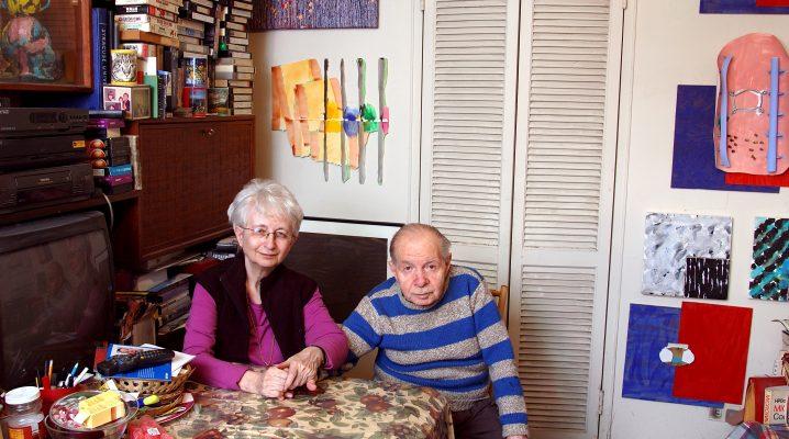 Herb & Dorothy in living room