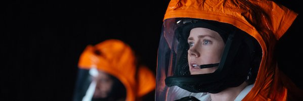 Amy Adams (right) as Louise Banks in ARRIVAL by Paramount Pictures